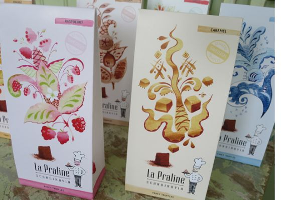 illustrations for La Praline